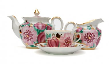 Old-fashioned tea service