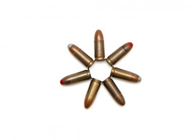 Seven-pointed star of 9mm cartridges