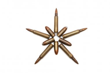 Five-pointed star of cartridges