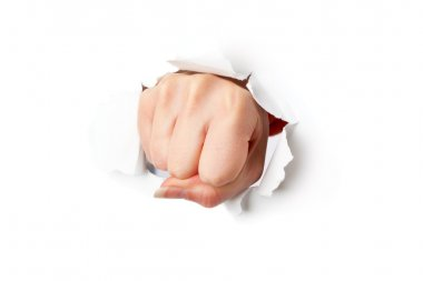Fist from paper