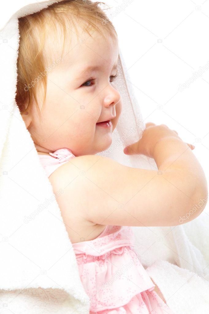 Little Girl In Bath Towel  Stock Photo  Natulrich 2248562-7472