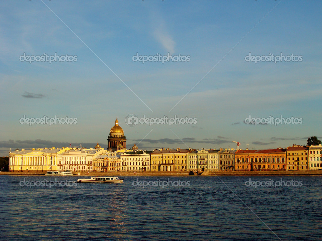 Petersburg, quay of Neva