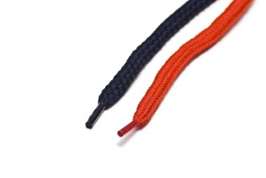 Black and red shoelace