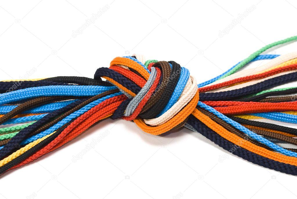nodo dei lacci delle scarpe colorate — Foto Stock © Alexan66  1586139 813ac48afcc