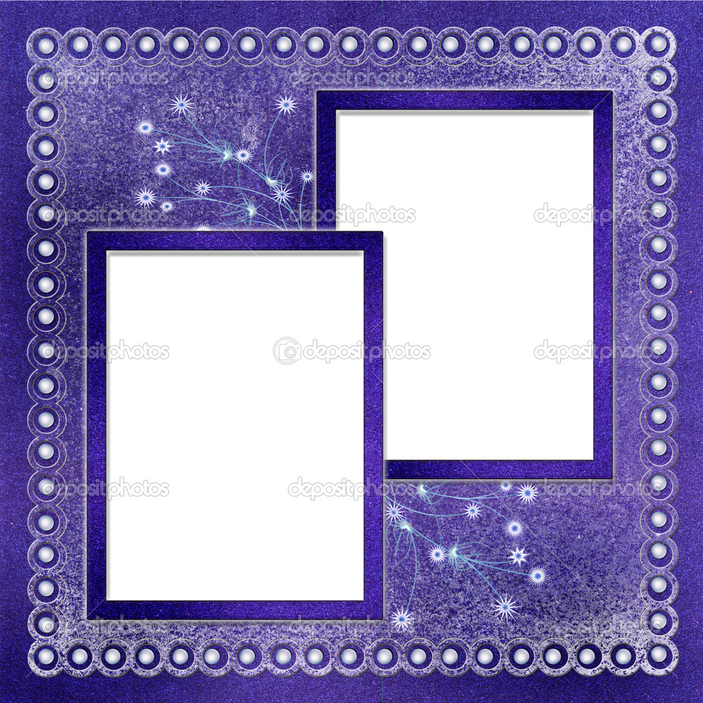 Frames for photo on winter background — Stock Photo © lionceau #1175940