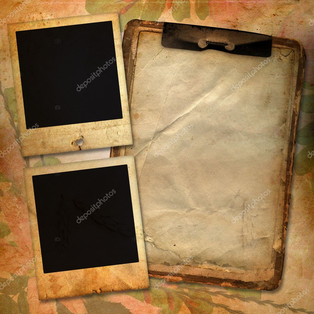 Vintage background with frames for photo