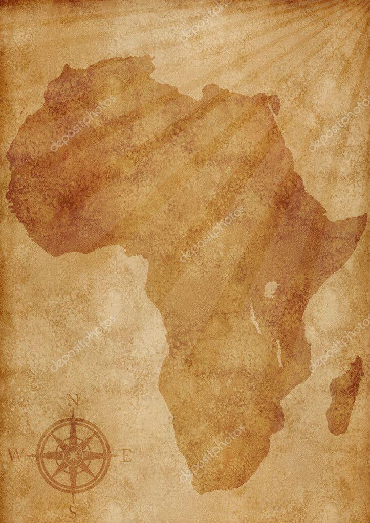 Old Africa map illustration