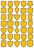 Fotografie Set of different heraldic shields