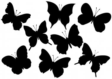 Flying butterflies vector illustration