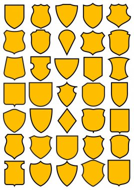Set of different heraldic shields