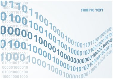 Abstract binary code waves vector