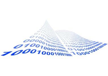 Binary code vector illustration