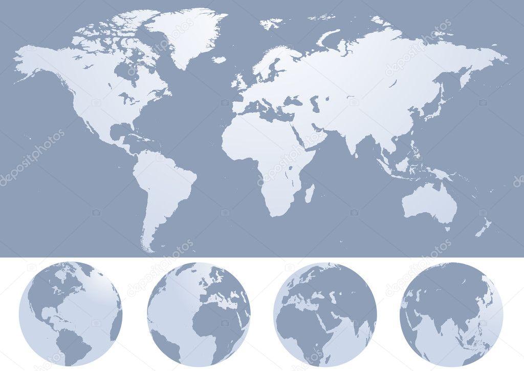 World map silhouette illustration