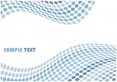 Abstract hex waves vector background