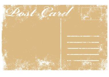 Vector illustration of blank old grunge postcard clip art vector