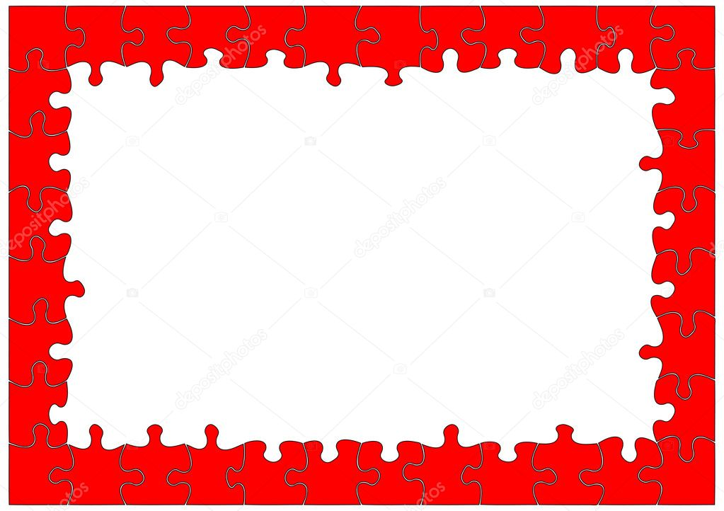 Abstract background puzzle frame