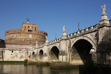 San Angelo bridge and castle in Rome