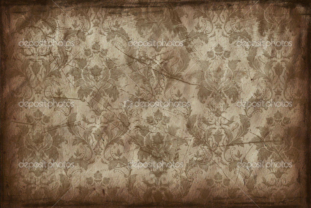 Vintage Background From Old Wallpaper Stock Photo