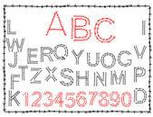 Photo Hand-drawn alphabet