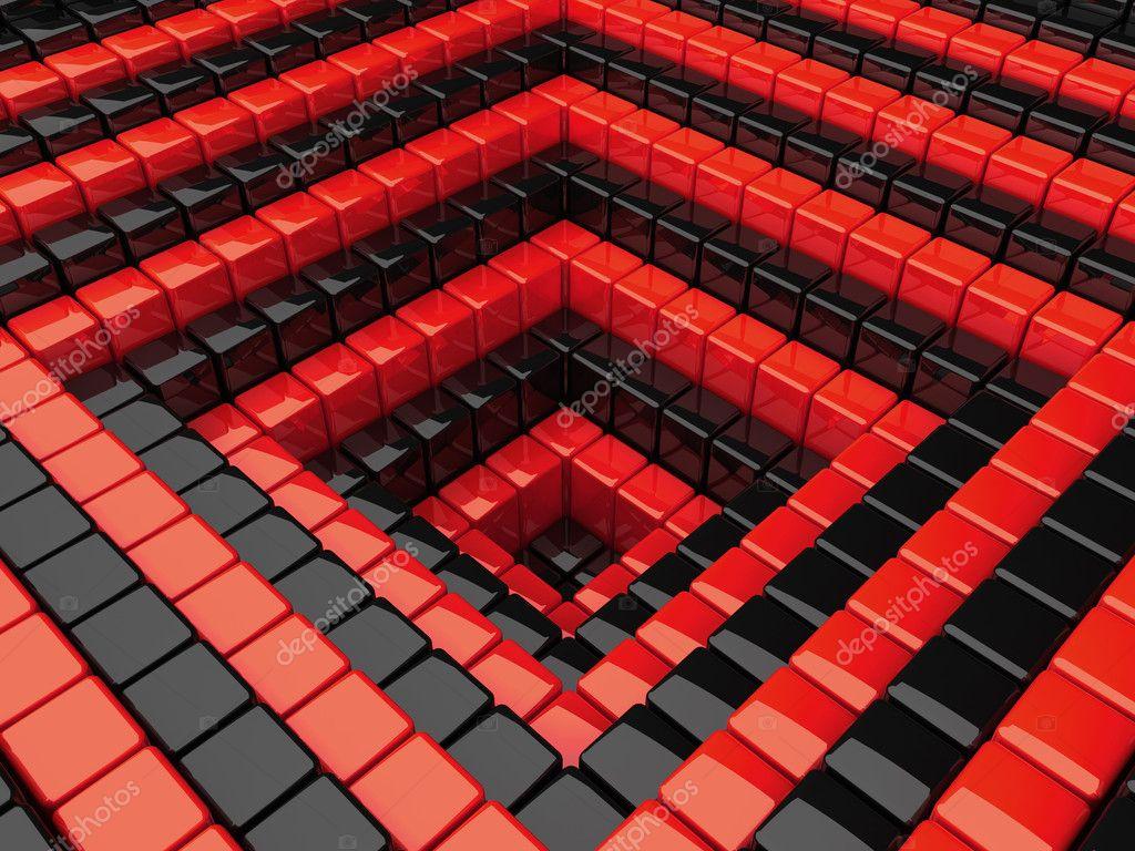 Kırmızı Arka Plan Ile çukur Stok Foto Monarx3d 1223618