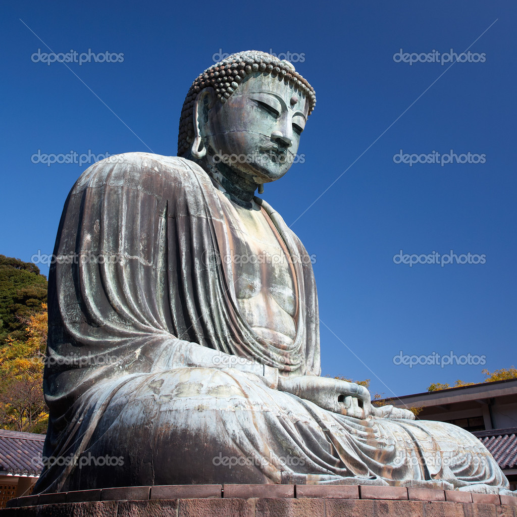 gro e buddha statue in kamakura stockfoto zastavkin 1237080. Black Bedroom Furniture Sets. Home Design Ideas