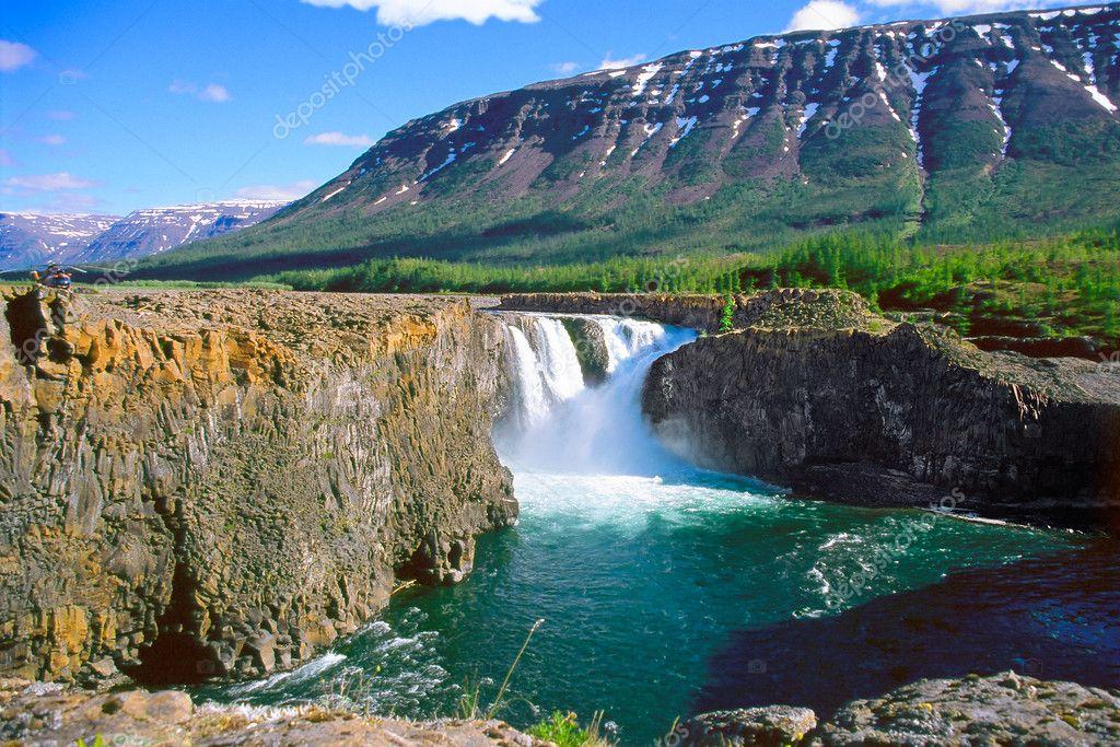 Kutamarakan river waterfall