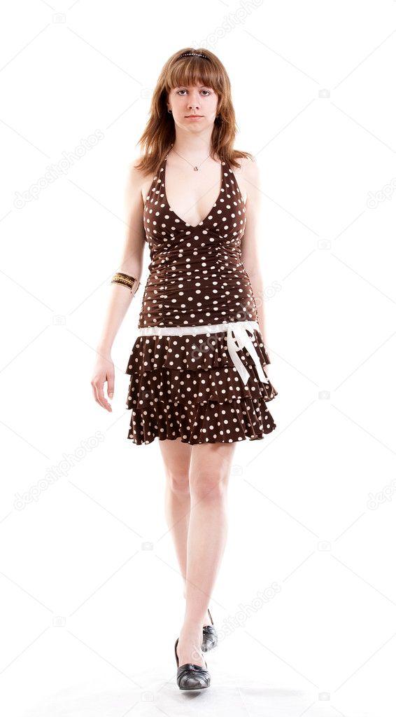 Girl in sun dress