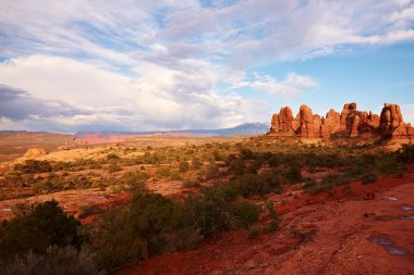 Red Desert at Sunset after the Storm
