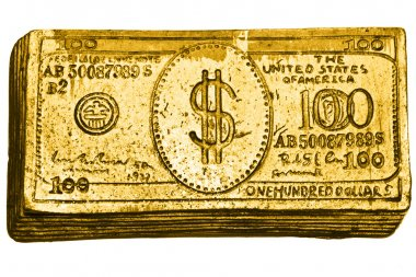 Golden 100-dollar bill