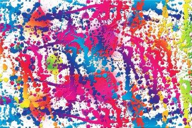 Colorful piant splashes background