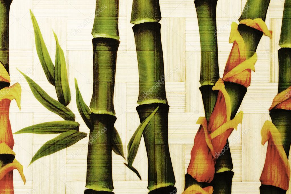 Textured bamboo background