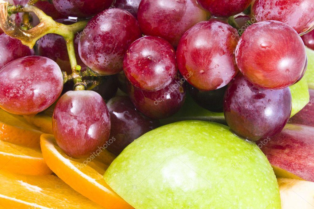 Fresh fruit background