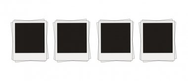 Blank photos isolared over white stock vector
