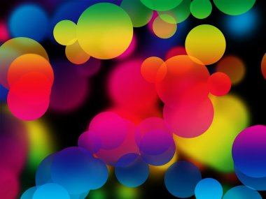 Colorful multicolored bubbles abstract background stock vector