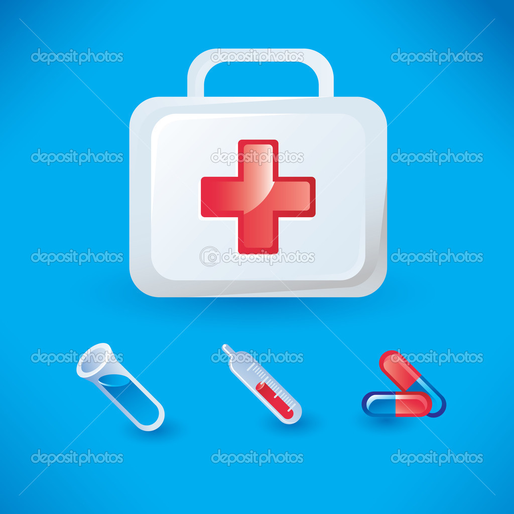 Set of medical icons — Stock Vector © venimo #1708783