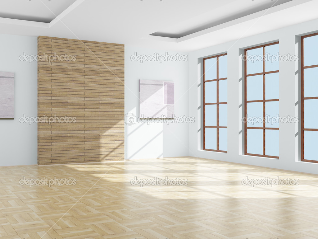 Empty Room 3d Image Stock Photo 169 Isergey 1302798
