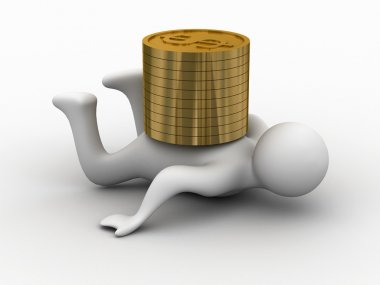 Financial crisis. Isolated 3D image