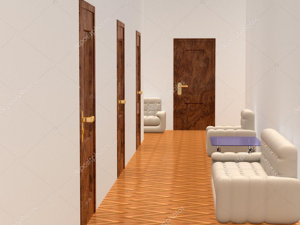 Decoratie Interieur Corridor : Interieur van een corridor wachtkamer u stockfoto isergey