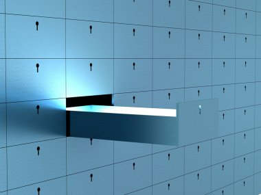 Open cell in safety deposit box