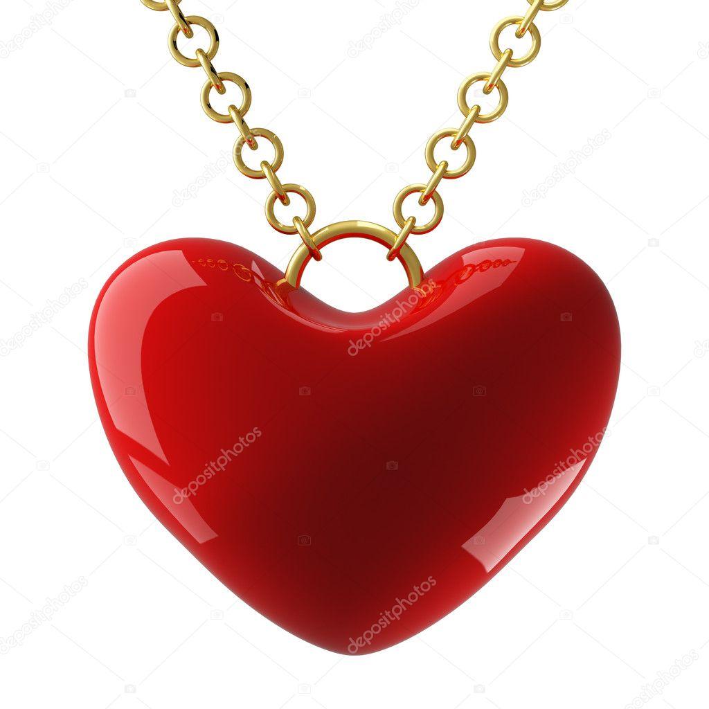 srdce visí na okruhu. 3D obrázek — Stock Fotografie © ISergey  1867938 0a406af786d