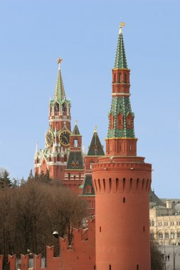 Moscow, Russia, Towers and Kremlin Wall