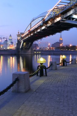 Torch on quay of the Moscow-river