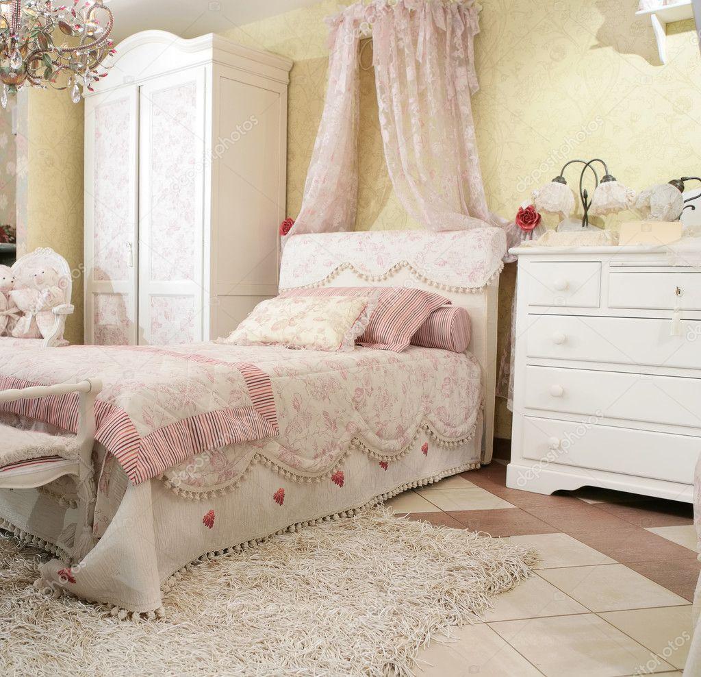 de slaapkamer van kind stockfoto
