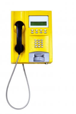 Yellow public telephone