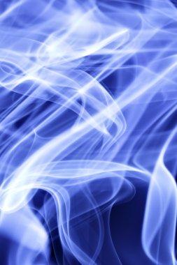 Blue cigarette smoke