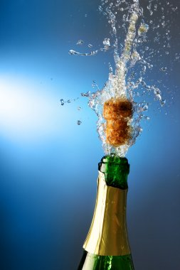Champagne with splashes