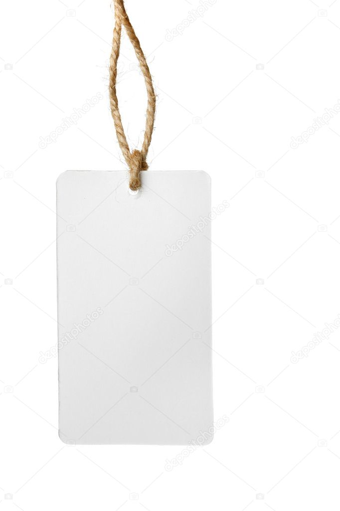 Blank Price Tag Stock Photo Zoooom 1427029