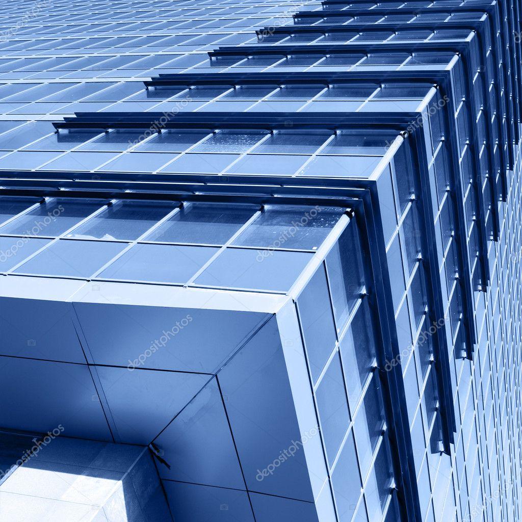 Corner of modern office building