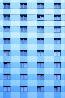 Windows of apartment skyscraper