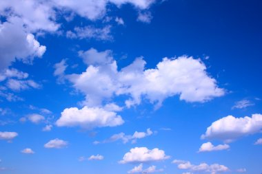 Deer blue sky and clouds, may be used as background stock vector